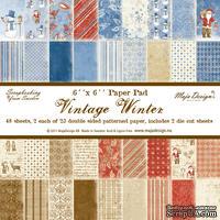 Набор бумаги для скрапбукинга от Maja Design - Vintage Winter - Paper Pad, 15х15 см, 48 листов