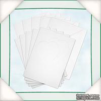 Заготовка для открытки с конвертом от Flower Soft - Два сердца (с двумя отверстиями в форме сердец), 1 шт.
