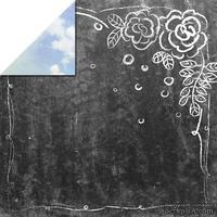 Лист скрапбумаги от Lemon Owl - Weekend Trip, B&W,  30х30см