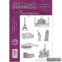 Набор резиновых штампов от Crafter's Companion - Around The World, 8 шт.