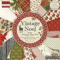 Набор новогодней бумаги от First Edition - Vintage Noel, 15×15 см, 64 листов.