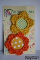 Вязаные украшения от Pony Polly - Рамочки для фото - цветочки, размер упаковки 7,5х11 см
