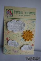 Вязаные украшения от Pony Polly - Солнышко и облака, размер упаковки 7,5х11 см