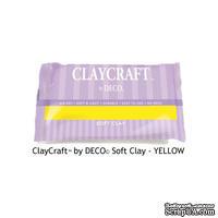Полимерная глина от Claycraft by Deco©- Yellow, цвет желтый, 55 гр.