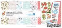 Набор бумаги от  Евгения Курдибановская ТМ - Merry Christmas,  20х20 см, 12+2 листов