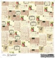Лист бумаги для скрапбукинга от Magnolia - LOVE POSTCARD