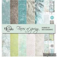 Набор бумаги 13arts - Faces of Spring, 30х30 см, с наклейками