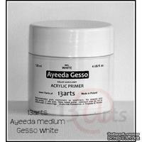 Акриловый грунт Ayeeda Gesso - Acrylic Primer, цвет белый, 120 мл