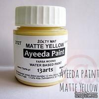 Краска 13arts - Ayeeda Paint - Matte Yellow - ScrapUA.com