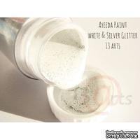 Краска 13arts - Ayeeda Paint - White & Silver Glitter
