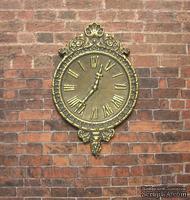 Гипсовые часы под античное золото с мерцанием, от Е.В.А. 7x4,5 см