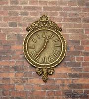 Гипсовые часы под бронзу, от Е.В.А. 7x4,5 см