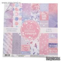 Набор бумаги для скрапбукинга от АртУзор - «Воздушный поцелуй», 30,5 х 30,5 см, 12 листов, 180 г/м