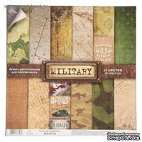 Набор бумаги для скрапбукинга от АртУзор - Military, 12 листов, 30,5 х 30,5 см, 180 г/м