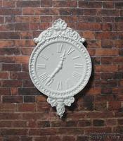 Гипсовые белые часы, от Е.В.А. 7x4,5 см