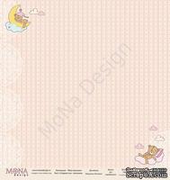 """Лист односторонней бумаги от Mona Design - """"Сладкие сны"""" - Малышка, 30х30см, арт 14591"""