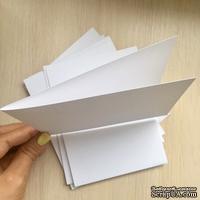 """Набор заготовок для открыток американского формата, Long, 4 1/4"""" х 5 1/2"""", цвет белый, 250 г/м2, 10 шт."""