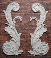 Гипсовые узоры для декорирования от Е.В.А.10,5,6,5 см; 7,4x5 см; 3x1,5 см