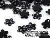 Пластиковые цветочки, 11мм, цвет черный, 10 шт.
