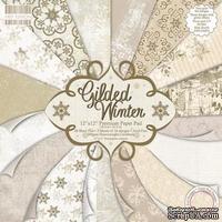 Набор новогодней бумаги от First Edition - Gilded Winter, 30х30 см, 16 стр