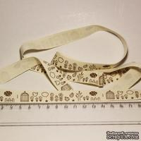 Лента от Thailand - Bird Cage Pattern Cotton Ribbon Label String, 1 метр