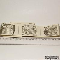 Лента от Thailand - French Pattern Print Cotton Ribbon Label String, 1 метр