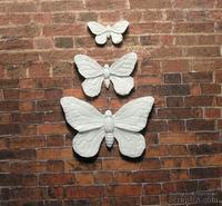"""Пластиковое украшение """"Бабочки"""" от Е.В.A, 3шт, 4,3х2,8см; 3х2см;1,5х1см"""