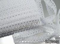 Вязаное кружево White, ширина 18 мм, цвет белый, длина 90см