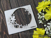 Чипборд рамка осень тыковка от WOODchic, 10х9 см