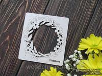 Чипборд венок с цветочками от WOODchic, 9х10 см