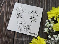 Чипборд набор веточки дуба с желудями от WOODchic, 5х4 см