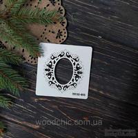 Чипборд Рамка 15 от WOODchic, 7,5х8 см