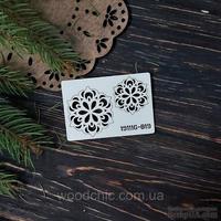 Чипборд набор Снежинки 19 от WOODchic, 4х4 см 3х3 см