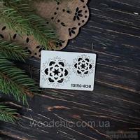 Чипборд набор Снежинки 20 от WOODchic, 4х4 см 3х3 см