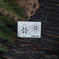 Чипборд набор Снежинки 21 от WOODchic, 4х4 см 3х3 см