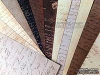 "Набор бумаги Prima - Script 12""x12"" Paper Pad, 30x30см, 12 листов"