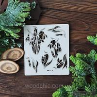Чипборд набор подснежники от WOODchic, размер от 6 до 8см