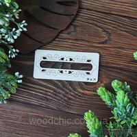 Чипборд рамка вензельная прям. 2 от WOODchic, 10х3,5 см