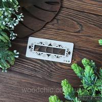 Чипборд рамка вензельная прям. от WOODchic, 10х4 см