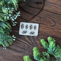 Чипборд листики 2 от WOODchic, размер 2,5х1,2 см