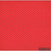 Лист односторонней бумаги от Mona Design - Горох на красном, 30,5х30,5см