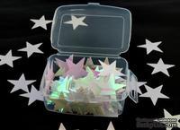 """Новогодние блестящее конфетти """"Звездочки"""", размер 28 мм, цвет белый, 1 упаковка"""
