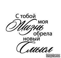 Акриловый штамп ''С тобой моя жизнь (сердечные надписи)''
