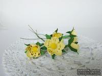 Цветы клубники, 3,5 см,  5 шт.