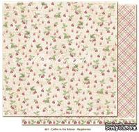 Двусторонний лист бумаги для скрапбукинга от Maja Design - Coffee in the Arbour - Raspberries, 30x30 см