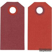 Теги от Hobby&You - Манила, 6x3 см, бордо/красный, 1 шт