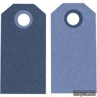 Теги от Hobby&You - Манила, 6x3 см, темно-синий/светло-голубой, 1 шт