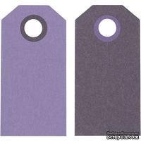 Теги от Hobby&You - Манила, 6x3 см, фиолетовый/темно-фиолетовый, 1 шт