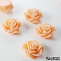"""Кабошон """"Цветок"""", цвет Тangerine Pink, размер 20 мм, 1 шт."""