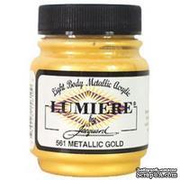 Акриловая краска Jacquard® Lumiere® Metallic Acrylic Paint - Metallic Gold - 70 мл, цвет золотой металлик